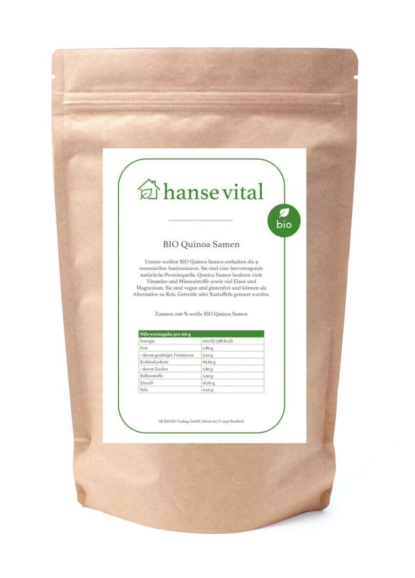 BIO Quinoa Samen - Online bestellen im Onlineshop von hanse vital - Das gesunde Superfood bestellen.